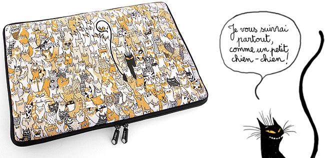 Le Petit Oiseau // Housse laptop + I-pod + I-Phone // Tribbes